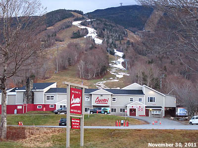 The Cannon Mountain Peabody Base Area, 11/30/2011