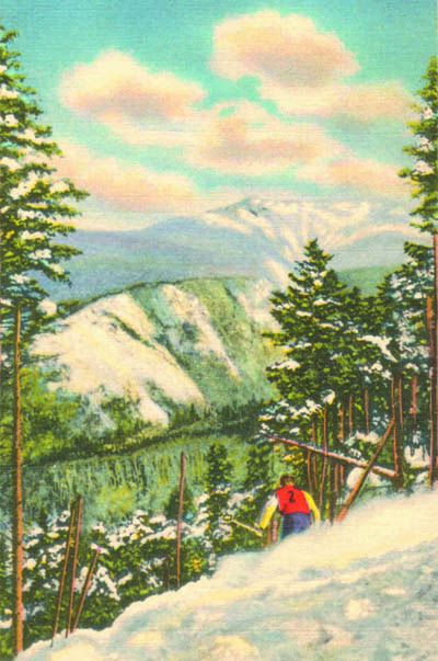 A painting of the Taft Trail from a 1937 postcard