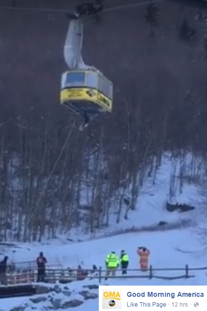 ABC Good Morning America video of Cannon Tramway evacuation