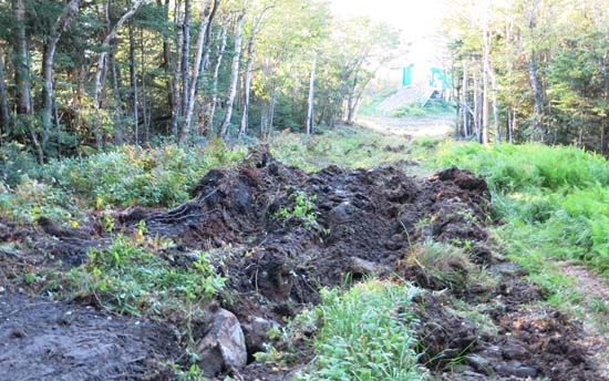 Deep ruts on the Taft Trail above the Mittersill Double Chairlift